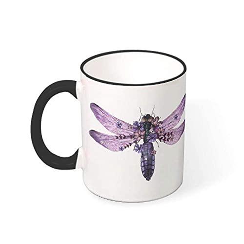N\A Tazas de té con Mango Divertido mágico de Mariposa Animal con Mango Hanukkah para ti y tu Amigo drakblack 11oz