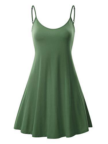 MSBASIC Sommerkleid Kurzes Kleid Party Kleid Damen Basic Kleid Damen Kleid Grün Grün Groß