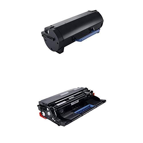 Dell M11XH Toner Cartridge B2360d/B2360dn/B3460dn/B3465dn/B3465dnf Laser Printers with Dell KVK63 Black Imaging Drum Kit B2360d/B2360dn/B3460dn/B3465dn/B3465dnf Laser Printers