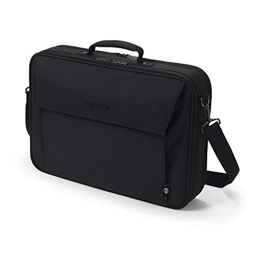 DICOTA Eco Multi Plus Base 15-17.3 – Notebooktasche mit Schutzpolsterung & Dokumentenfach, schwarz
