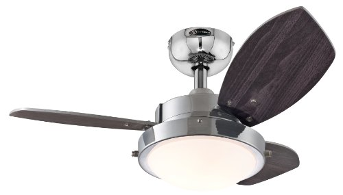 Westinghouse 7876300 Wengue Chrome 30' Ceiling Fan with Light