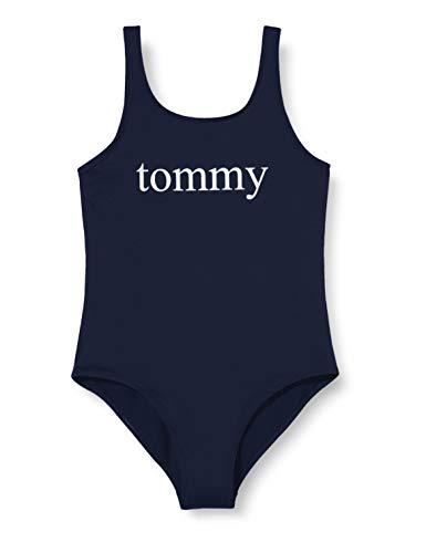 Tommy Hilfiger Mädchen One-Piece Bikini-Set, Blau (Pitch Blue 654-870), 14-16 Jahre