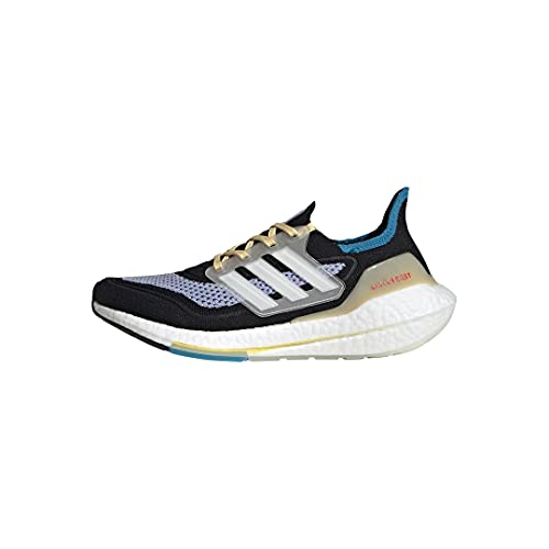 adidas Women's Ultraboost 21 Running Shoe, Black/White/Violet Tone, 7.5