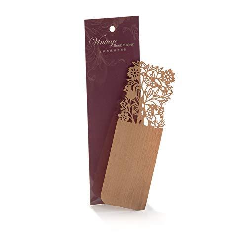 Segnalibro in materiale legno sottile elegante taglia con laser Ideale regalo (A-8)