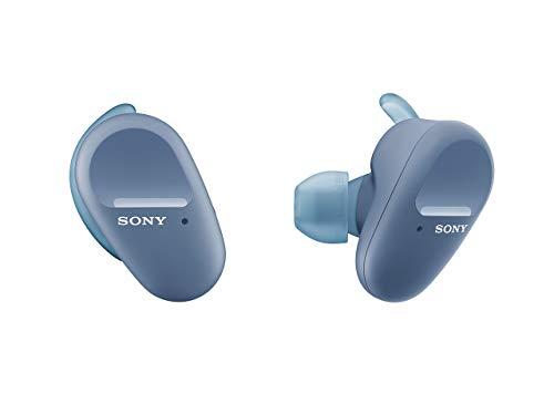Sony WF-SP800N - Cuffie Bluetooth True Wireless, con Noise Cancelling, Microfono integrato, Batteria fino a 18 ore (Blu)