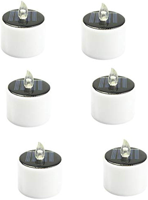 YaXuan 6 PCS Solar Lights, LED Kerzen Mode Wasserdicht Licht umweltfreundliche Energieeinsparung für Hochzeitsplatten Reisen Home Party Dinner Dekoration