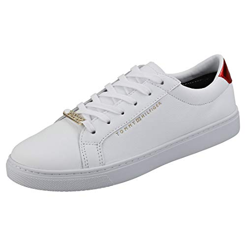 Tommy Hilfiger Damen Essential Sneaker, Weiß (Rwb 020), 38 EU