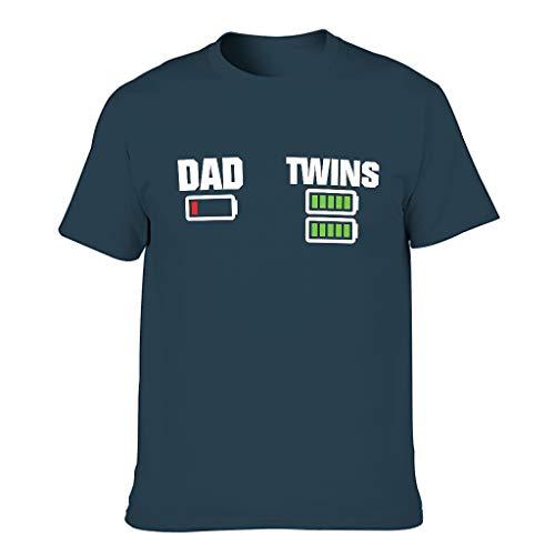 """Comoda maglietta da uomo con scritta in lingua tedesca \""""Fun Papa Zwillinge\"""" blu navy XXXL"""