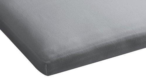 Beddinghouse Drap-Housse en Jersey pour lit articulé Gris Clair 80-90 x 200-210 cm