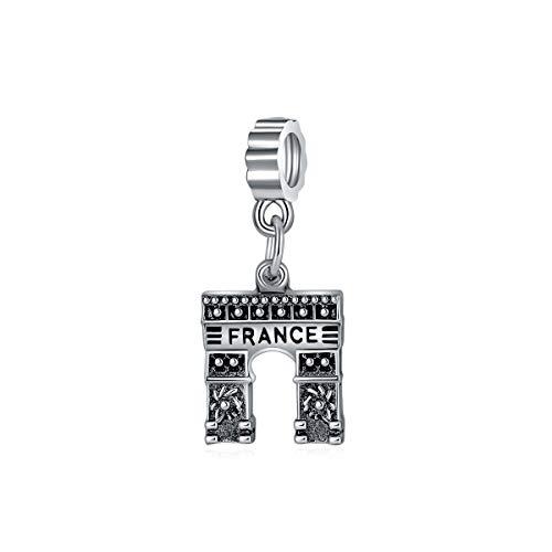 YOYNZY Se Ajustan A Las Pulseras Originales De Pandora 925 DIY Charms Bead Triumphal Arch Travel Francia Brazalete Joyería De Las Mujeres