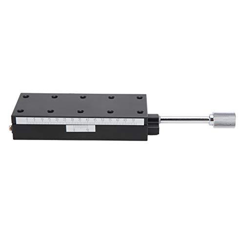 Escenario lineal con ranura de cola de milano, plataforma lineal de eje X Mesa deslizante lineal Aleación de aluminio de alta precisión para equipos ópticos