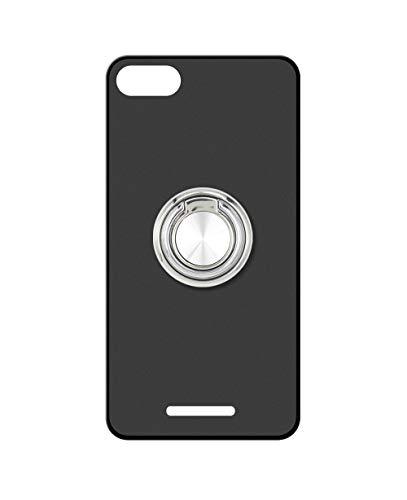 Sunrive Kompatibel mit Wileyfox Spark Plus Hülle Silikon, 360°drehbarer Ständer Ring Fingerhalter Fingerhalterung Handyhülle matt Schutzhülle Etui Hülle (A2 Silberig) MEHRWEG