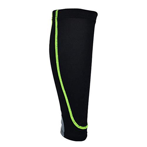 ghfashion Anti-Rutsch Waden-Bandage, Unisex, Sport, elastische Kompression, 1 Stück XL Black + Green