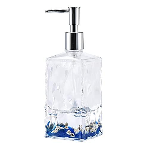 Locco Decor Acrylic Liquid Floating Motion Bathroom Vanity Accessory Shell Soap Dispenser