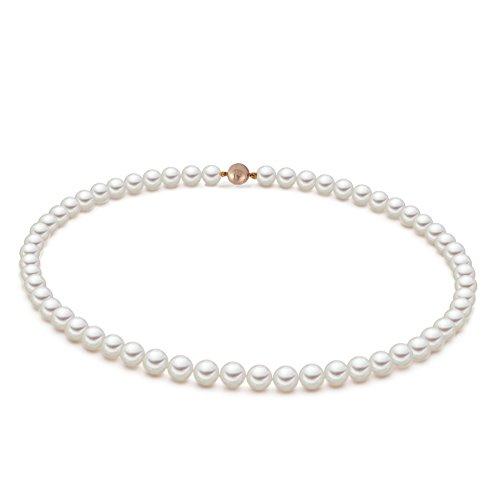 Original McPearl Akoya Perlenkette Comfort mit hochwertigem Magentverschluß in Gelbgold. Top Qualität aus Deutschland.