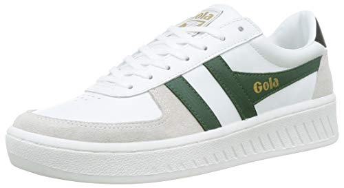 Gola Grandslam Classic, Scarpe da Ginnastica Uomo, Bianco/Verde/Nero, 44 EU