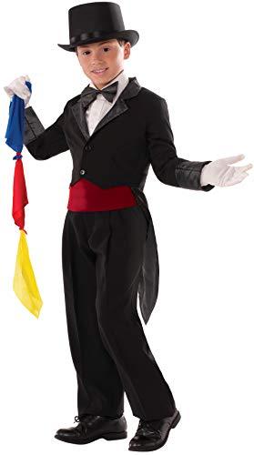 Forum Novelties 76469 Zauberer Frack Kostüm, schwarz, Large, 134-146 cm