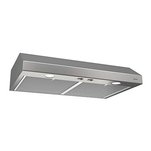 Broan-NuTone BCSD130SS Glacier Range Hood with Light BCSD, 30-Inch, Stainless Steel