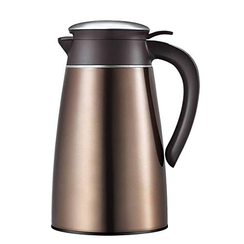 Koffie van het Roestvrij karaf Food-grade 304 RVS thermoskan - Insulated Vacuum Thermal - Koffie- Isolatie Pot Water Pitcher Met dekselgreep 2L Thermal Jug (Color : Mochakin, Size : 2L)