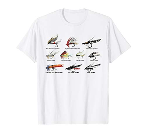Vintage Fly Fishing Lures in Color T-shirt T-Shirt