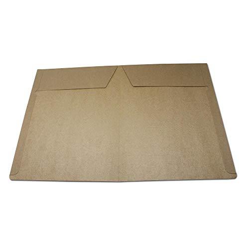Heng 20st bruin A4 document map clip kraft papieren zakken verpakking voor school kantoor