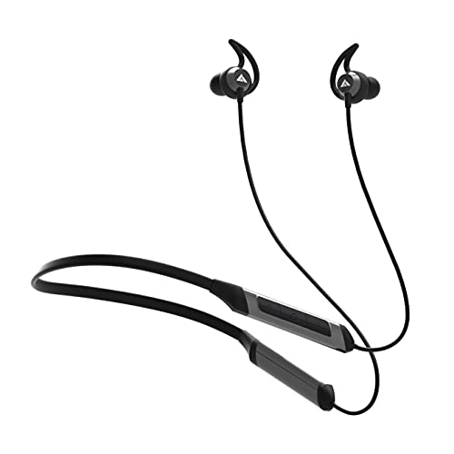 Boult Audio ProBass Qcharge in-Ear Earphones with Fast Charging, 24H Battery Life, in-Built Mic, IPX5 Water Resistant Neckband (Black)