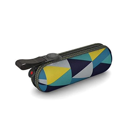 Knirps X1 Pod Manuell Ultra kompakter Leichter Aluminium windabweisend (bis zu 80 MPH) 8 Streben 95 cm Reise-Regenschirm mit 95{c431196cf89eba1eb8883f98d3de1ce08d45e0cd1500841b5d054b01efedd545} UV-Schutz, blaugrün (Trkis) - X1 Pod