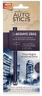 Enviroscent 01126-036 Onyx Night Autosticks Car Air Freshener - 2 per Pack