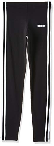 adidas YG E 3S Tight Mallas, Niñas, Black/White, 1314
