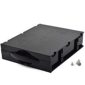 KLOUD City Black Desktop Computer ATX/MATX Hard Drive Mobile Blank Rack Drawer Tray Devices Storage case (5.25