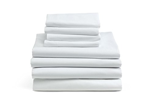 MIMAATEX 6 Pack-Hotel/SPA/Massage-Twin Flat/top Sheet-Bright White-180 Thread Count
