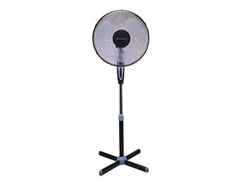 Beper P206VEN100 – Ventilador de Pie Negros, 3 Paas, 3 Velocidades, Diámetro 40 cm, Oscilante, Black Stand Fan