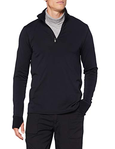 Marmot Camiseta Interior Polartec Baselayer con Media Cremallera para Hombre, Hombre, Camiseta, 82120, Negro, Medium
