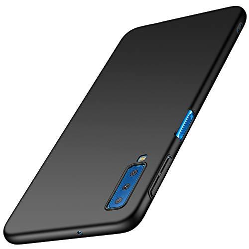 Avalri Funda Galaxy A7 2018, Diseño Minimalista Estuche Rígido Ultra Delgado de PC a Prueba de Golpes Resistente a Rasguños Cover para Samsung Galaxy A7 2018 (Negro Liso)
