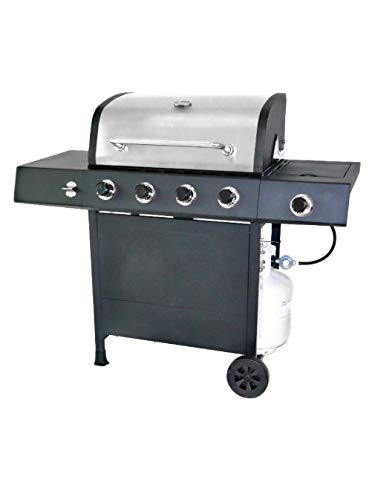 top rated LP gas grill 4 with burner RevoAce with side burner, stainless steel 2020