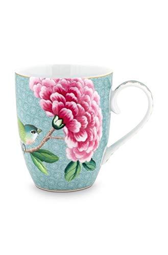 Pip Studio Große Tasse Blushing Birds | blau - 350 ml