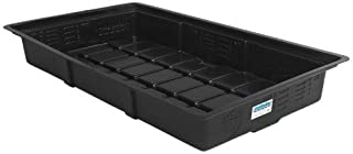 Duralastics Tray with Built-In Water Level Indicator, 2-Feet by 4-Feet, Black