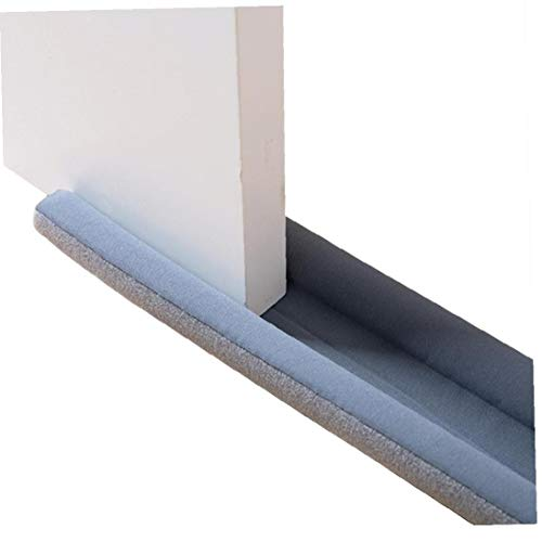 MICHAELA BLAKE Door Draft Stopper, Double-Sided Protection Window Breeze Blocker Bottom Sealing Strip Against Drafts Can Be Cut to Size Guard Draught Excluder