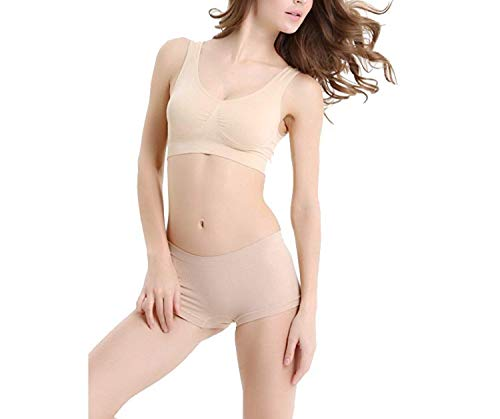 ALBATROZ Seamless Non Padded Set of Bra and Panty of Colour Beige fits Size 28 inche to 34 inch Chest Used as Innerwear for Girls and Women