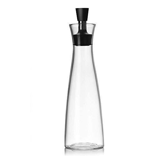 ALIXIN-Olivenöl-Spender.Glasflaschen und Ausgießer Set für Küche,Öl & Essig Menage/Dekanter,Mit Tropffreies Deckelausgießer,Flüssiger Gewürzbehälter,Glasdekanter Für Küche,Breiter Kaliber (550ML)