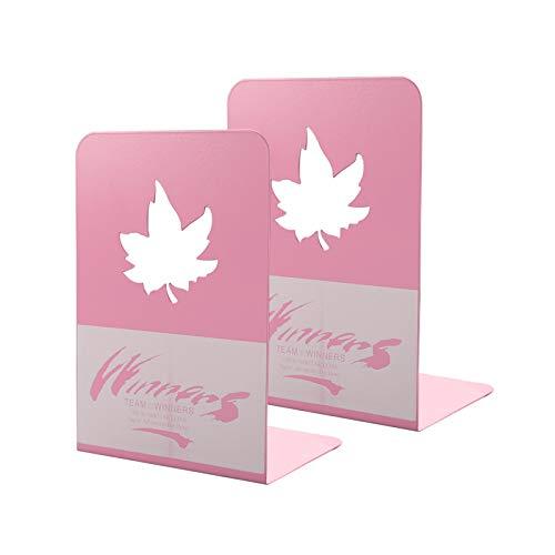 ASFINS Sujetalibros Metal, 1 par Rosa Sujeta Libros Sujetalibros de Servicio Pesado para Estantes, ideal para Biblioteca Oficina Hogar Escuela (13,5 x 19,5 x 10cm, Rosa)