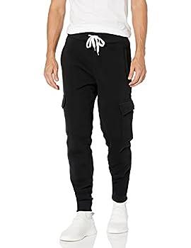 Southpole Men s Active Basic Jogger Fleece Pants Black  Cargo  3X-Large