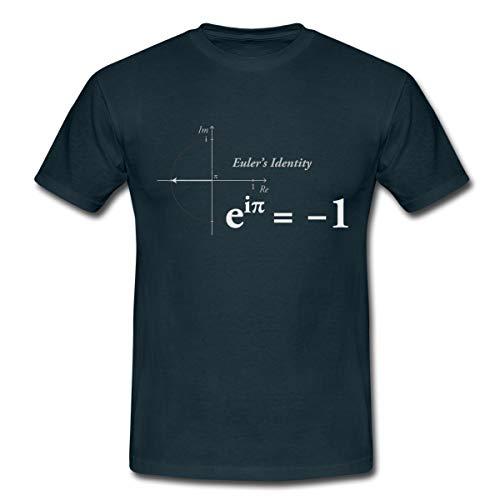 Euler Identität Mathe Formel Konstanten Männer T-Shirt, S, Navy