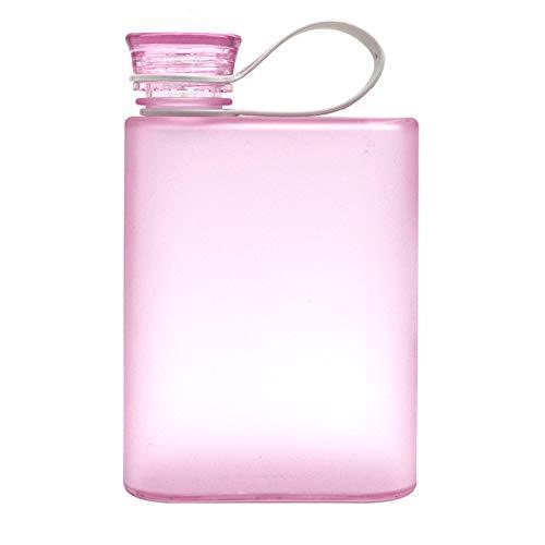 jwj Sports, bottiglia di carta per acqua, bottiglia piatta, borraccia sportiva (capacità: 400 ml, colore: viola)