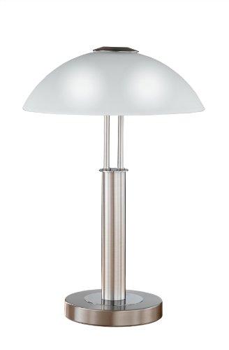 Wofi Tischleuchte-Prescot, 2-flammig, Nickel-matt, Höhe : 42 cm, 8747.02.64.0000