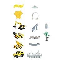 NUOLUX 建設レーストラックセット車のステム柔軟な列車プレイセットエンジニアリング道路おもちゃ車両ためのdiyのおもちゃ幼児キッズボーイズガールズスタイル3