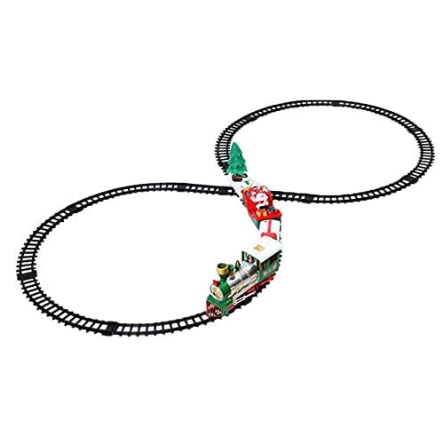 FXQIN Trenes De Navidad Arbol Tren eléctrico con luz de Sonido Incluye...