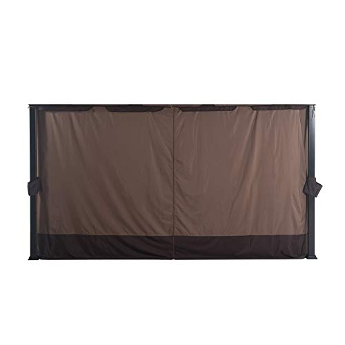 Sunjoy A111304900 Original Replacement Curtain for South Hampton Gazebo (11x13 FT) L-GZ659PST Sold at BigLots, Ginger Snap