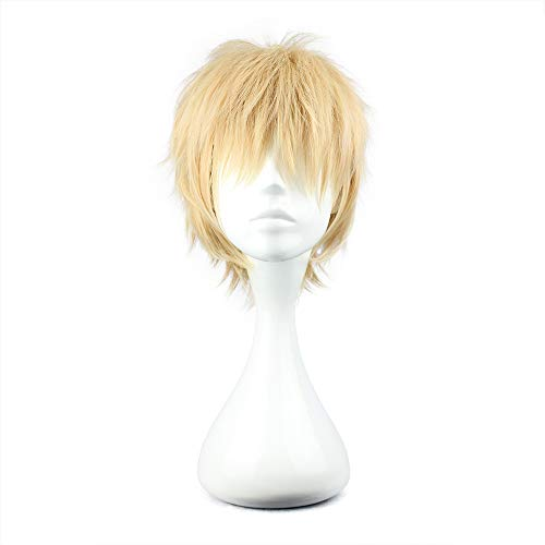 COSPLAZA Cosplay Wig Short Party Hair Pink & Blonde Boy Girl Anime Hair