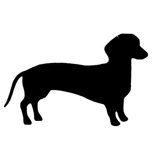 OLUYNG Pegatina de Coche 15 * 9,7 CM Low Rider Dachshund Dog Vinilo calcomanía Silueta Pegatinas de Coche Accesorios de Parachoques de Estilo de Coche Negro/Plata S1-1072